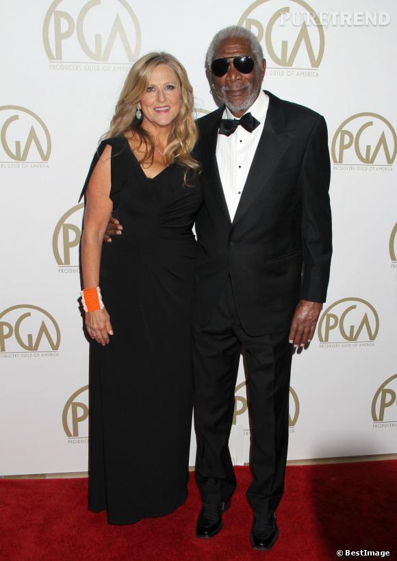 Morgan Freeman, 76 ans et toujours élégant sur red carpet.