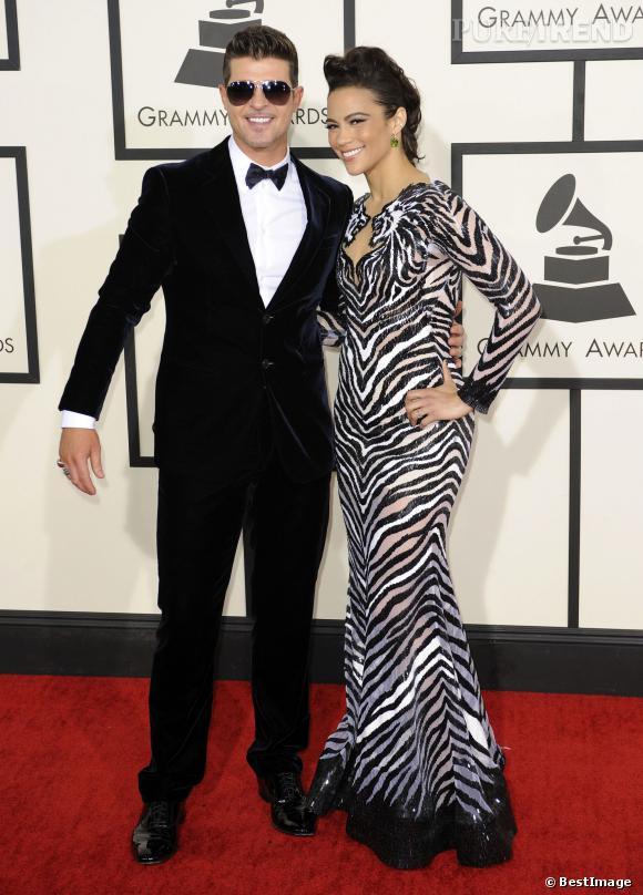 Robin Thicke et sa femme Paula Patton au temps du bonheur.