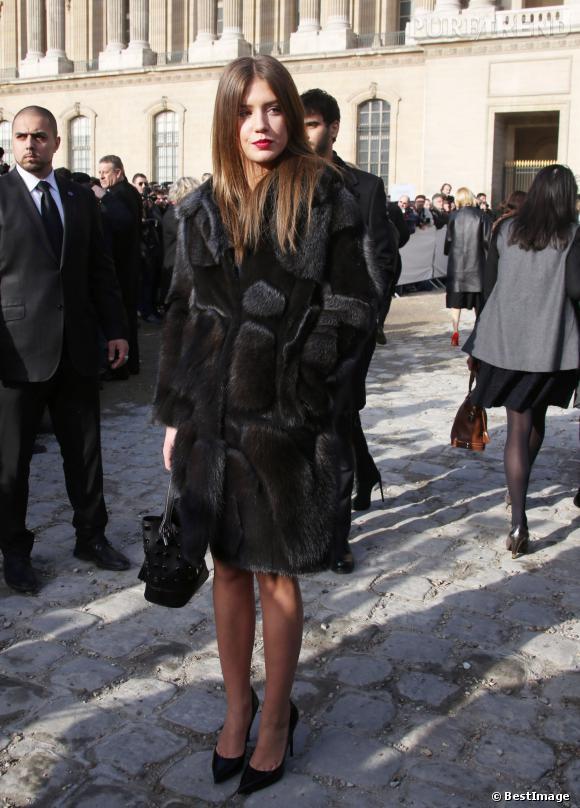 Adèle Exarchopoulos, femme fatale en fourrure.