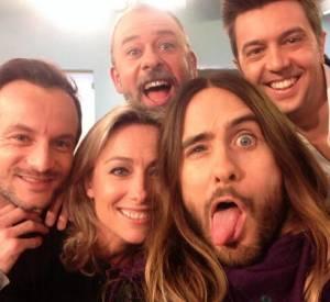 """L'équipe de """"C à Vous"""" en a profité pour faire son propre selfie avec Jared Leto !"""