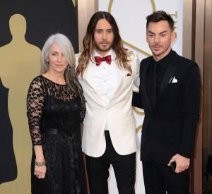 Jared Leto est venue avec sa mère et son frère aux Oscars 2014.