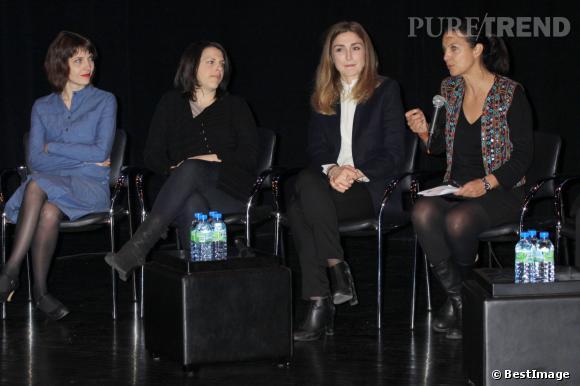 """Julie Gayet à la projection de """"Cinéaste(s)"""" à New York le 8 mars 2014."""