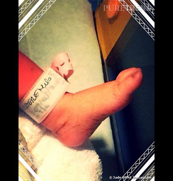 Jade Foret annonce ce dimanche 9 mars 2014 la naissance de la petite Mila.