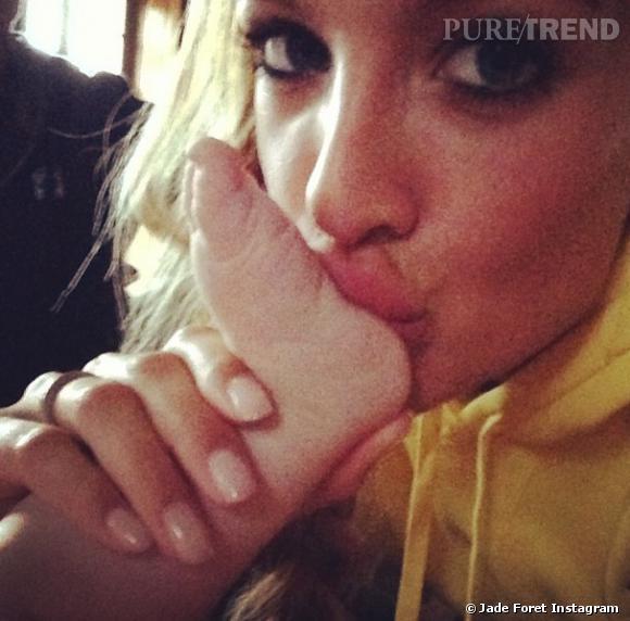 Jade Foret et sa fille Liva il y a quelques mois.