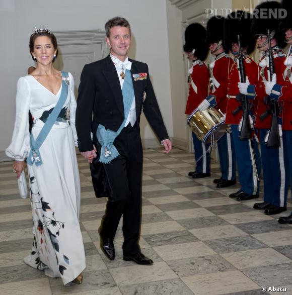 Princesse Mary du Danemark lors d'un diner officiel donné pour les politiques danois le 12 mars 2014.