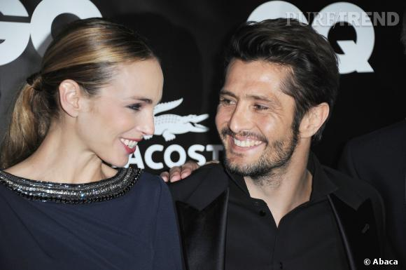 """Claire Keim et Bixente Lizarazu trés complicesà la soirée """"GQ l'Homme de l'Année 2010"""" en janvier 2011."""