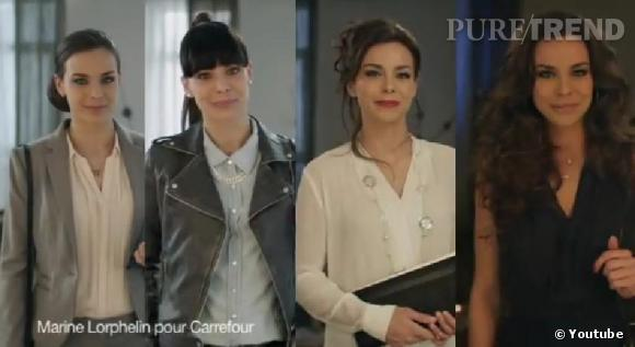 Marine Lorphelin dans différents styles durant la vidéo postée par Carrefour, à quoi doit-on s'attendre le 18 mars 2014 ?