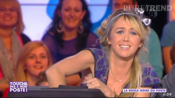 """Enora Malagré face à des ennemis grouillants dans """"Touche pas à mon poste"""",émission du 19 mars 2014."""