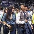 Irina Shayk et Cristiano Ronaldo lors d'un match de l'Euroligue à Madrid le 20 mars 2014.