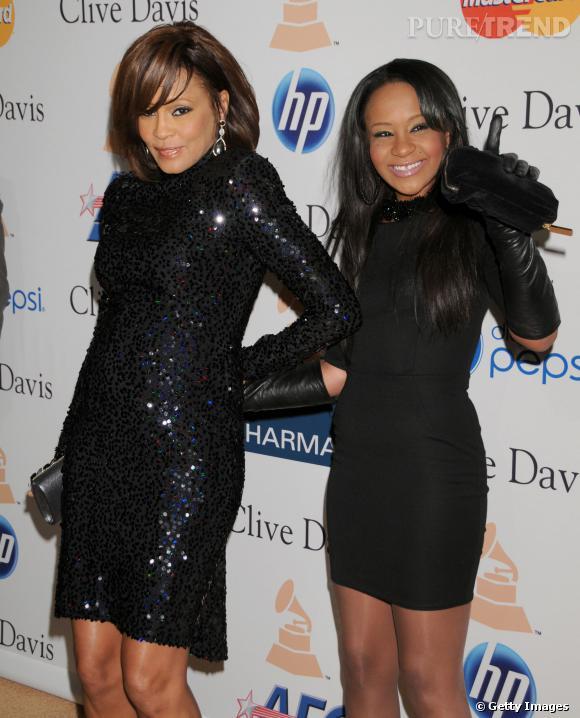 Whitney Houston et sa fille Bobbi Kristina Brown en février 2011.