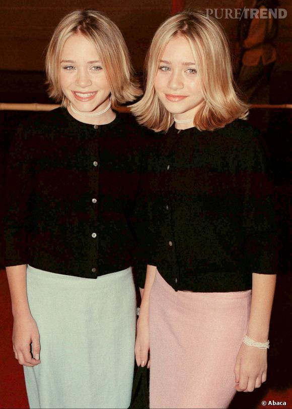 Mary-Kate et Ashley Olsen en décembre 1999.