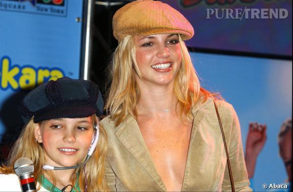 Britney Spears et sa soeur Jamie Lynn Spears en 2002.