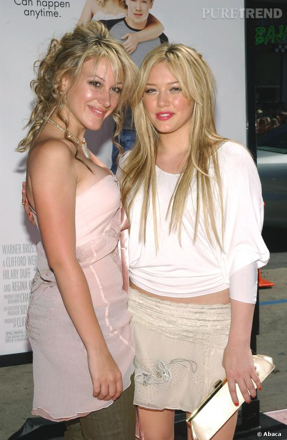 Haylie Duff et Hilary Duff en 2004.