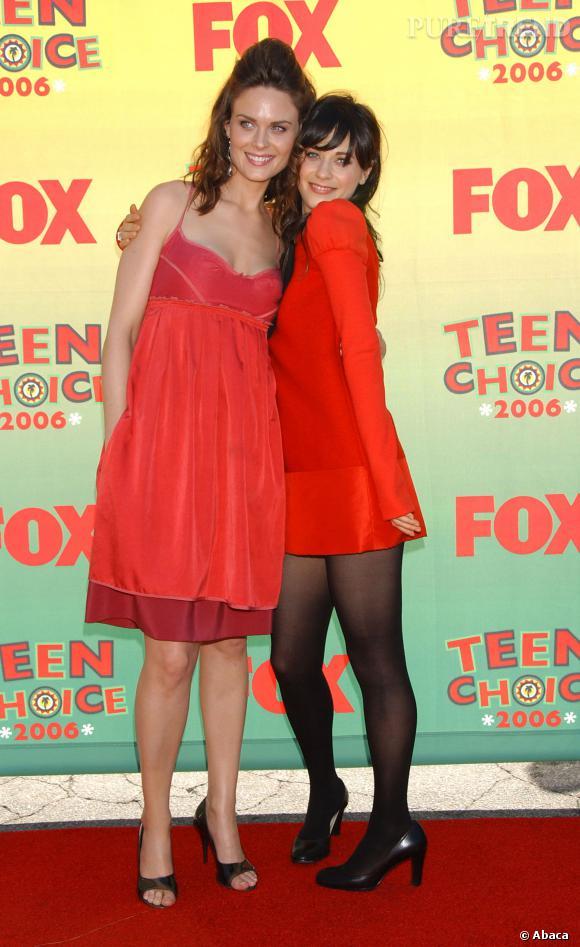 Emily Deschanel et Zooey Deschanel aux Teen Choice Awards 2006.