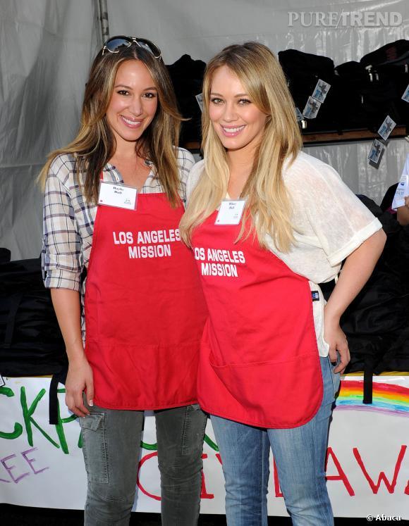 Haylie Duff et Hilary Duff en août 2009.