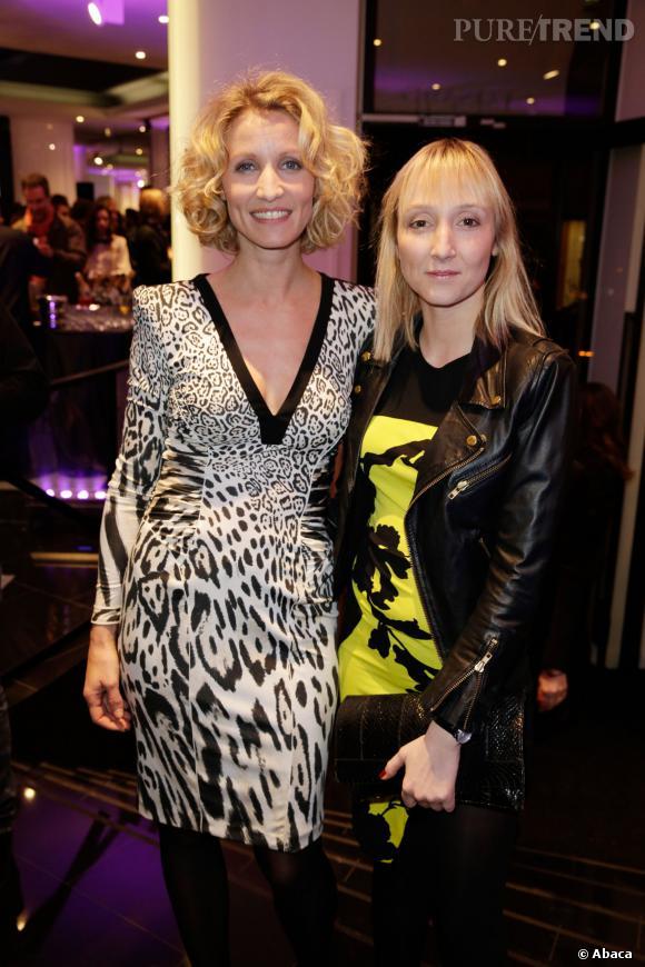 Alexandra Lamy et sa soeur Audrey Lamy lors de l'ouverture du magasin Leonard à Paris, en mars 2013.