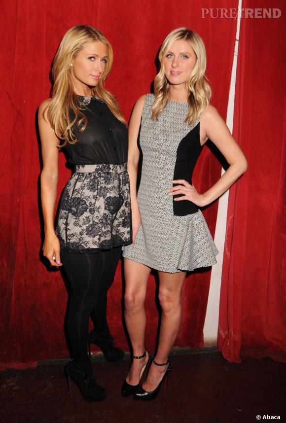 Paris et Nicky Hilton lors de la Fashion Week de New York en février 2014.