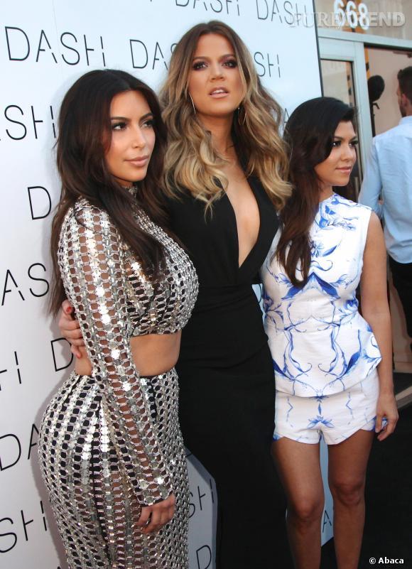 Kim, Khloe et Kourtney Kardashian, inséparables pour leurs magasins Dash.
