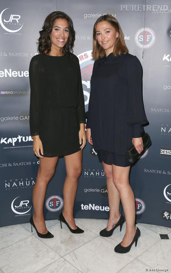 sandrine qutier et laurie chowela la touche de glamour du gala sauveteurs sans frontires le 31 mars 2014 - Mariage De Sandrine Quetier