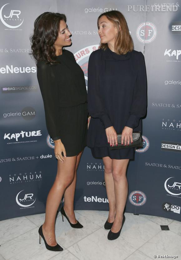 Sandrine Quétier et Laurie Chowela, duo complice et ultra-chic pour la bonne cause, le 31 mars 2014.