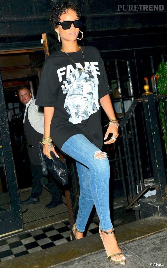 Rihanna à New York en août 2013.
