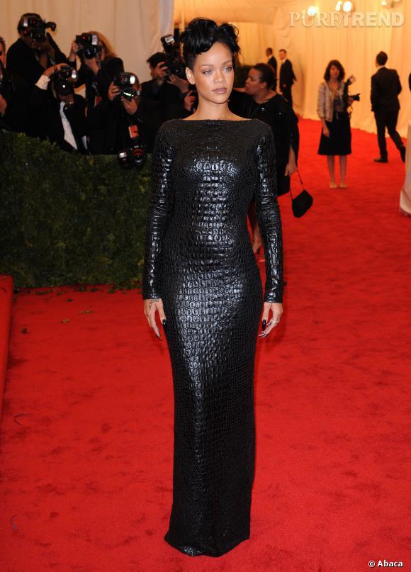 Rihanna sait sortir le grand jeu sur red carpet.
