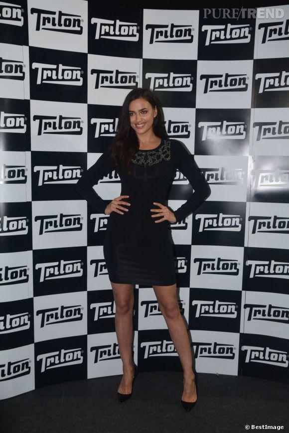 Irina Shayk lors de l'after party Triton à Sao Paulo le 1er avril 2014.