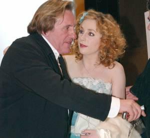 Julie Depardieu et son père Gérard Depardieu à la 30ème cérémonie des César en février 2005.