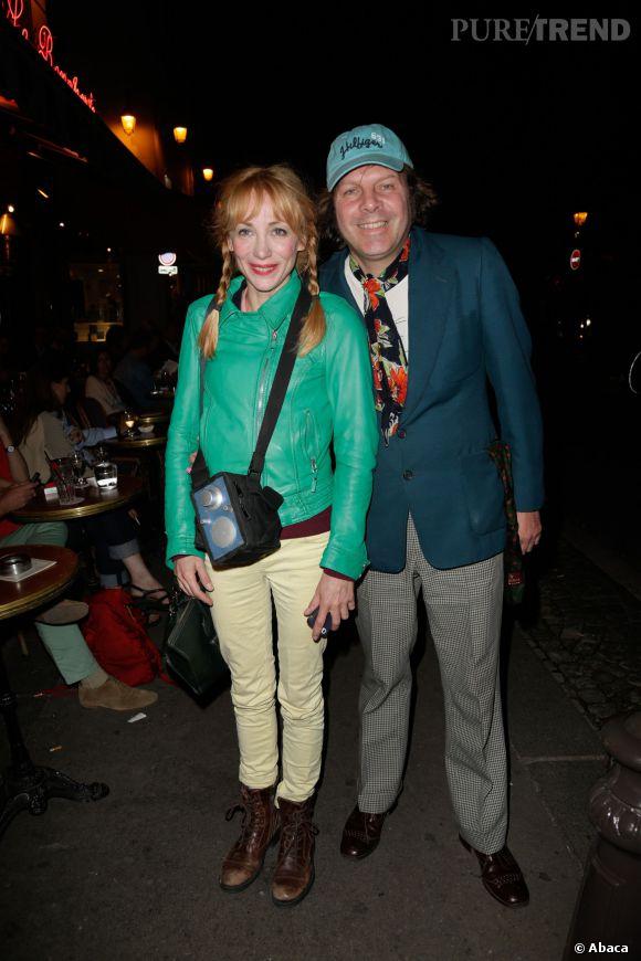 """Julie Depardieu et Philippe Katerine à la première du film  """"Opium"""", réalisé par Arielle Dombasle, en septembre 2013."""