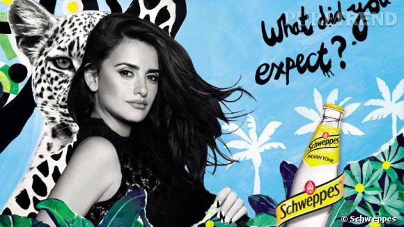 La campagne très colorée de Schweppes en 2014 avec Penelope.