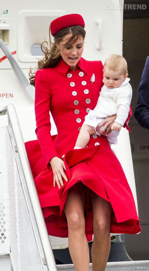 Kate Middleton, oups un coup de vent !