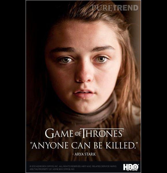 "Arya Stark dans ""Game of Thrones""."