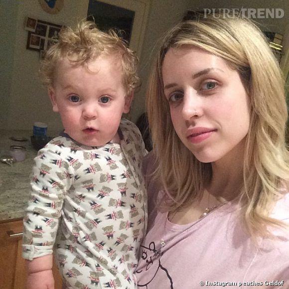 Peaches Geldof et son fils Phaedra.
