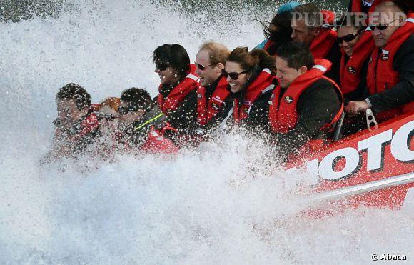 Kate Middleton se lance aussi dans le sport extrême en Shotover Jet.