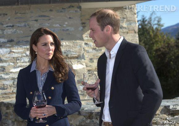 Kate Middleton visite une exploitation vinicole le 13 avril 2014 avec le Prince William ?