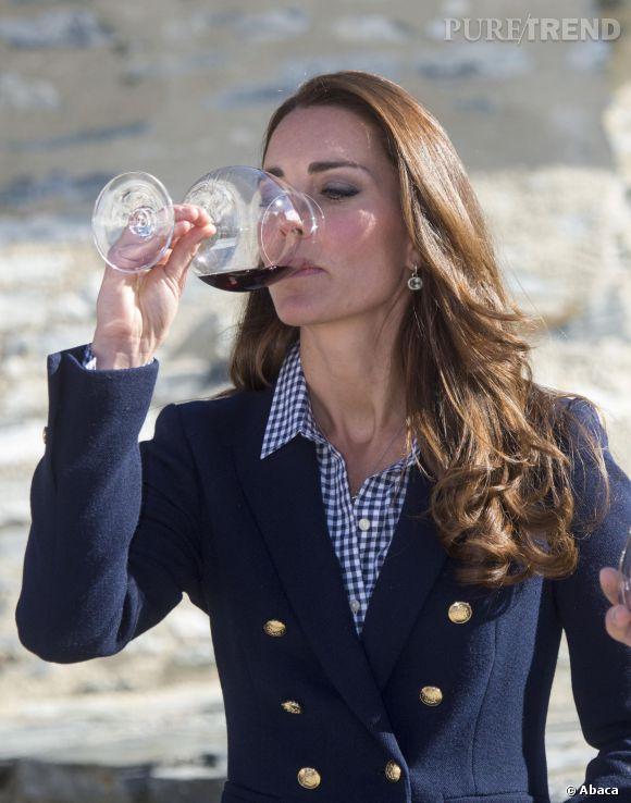 Kate Middleton enceinte ? Pas selon cette photo prise le 13 avril 2014 en Nouvelle-Zélande.