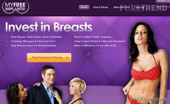 MyFreeImplants, le site qui permet aux femmes de financer leurs faux seins.