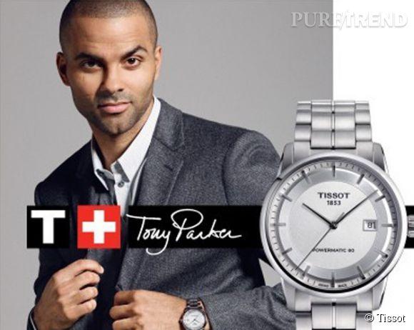 Tony Parker, élégant et stylé pour la nouvelle campagne de l'horloger suisse Tissot.
