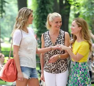 """Kate Upton, Cameron Diaz et Leslie Mann sur le tournage de """"The Other Woman"""" en juin 2013."""