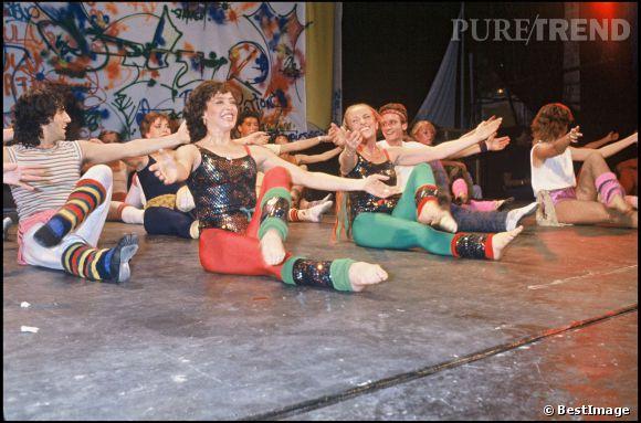 Véronique et Davina à la grande époque de l'émission Gym Tonique, en 1983.