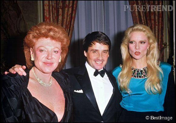 Régine avec Thierry Leluron et Sylvie Vartan en 1980.