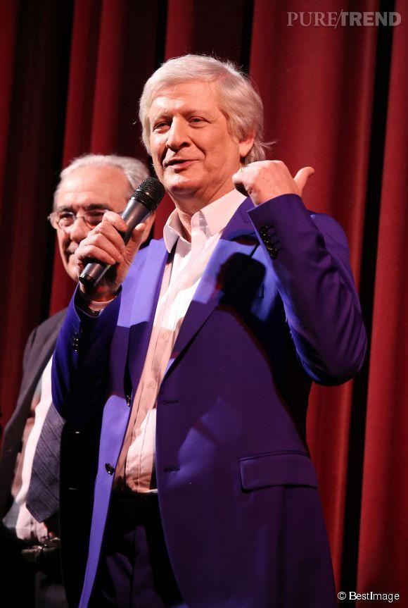 Patrick Sébastien lors d'une soirée au Théâtre du Gymnase à Paris le 14 avril 2014.