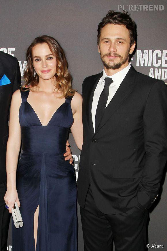 Leighton Meester était magnifique aux côtés de James Franco le 16 avril 2014 à New-York pour l'ouverture officielle de leur pièce, Of Mice and Men.
