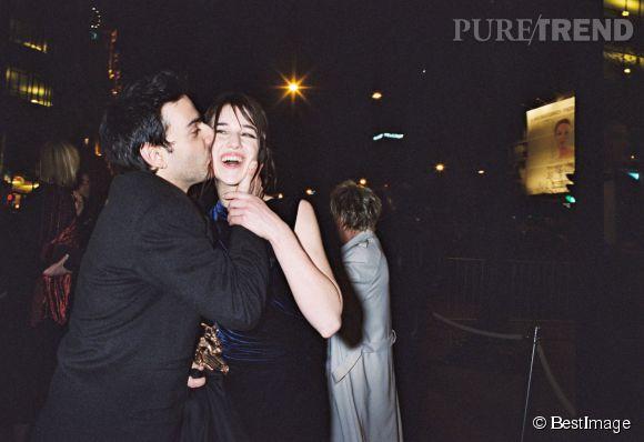 Charlotte Gainsbourg et Yvan Attal à la soirée des César en 2000.