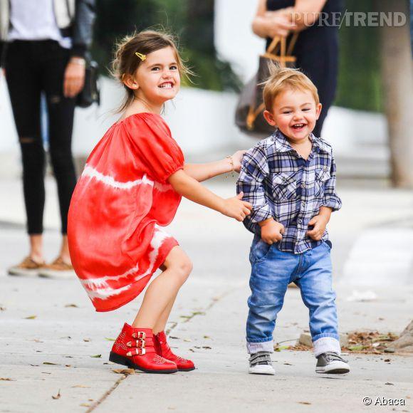 Anja Louise et Noah Phoenix, respectivement 5 et 2 ans, enfants d'Alessandra Ambrosio.