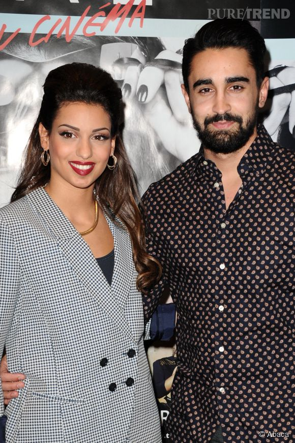 Tal et Anthony Such, son petit ami, à l'avant-première de Tal au cinéma, le 9 mars 2014 à Paris.