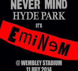 Mais quelques heures plus tard, Eminem annonce une super nouvelle à ses fans. Il sera en concert le 11 juillet au stade de Wembley.