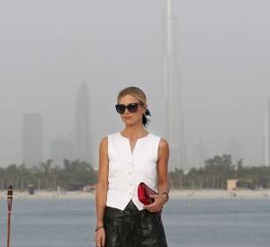 Laura Bailey au défilé de la Collection Croisière 2014/2015 de Chanel à Dubaï, ce mardi 13 mai 2014.