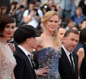 """Nicole Kidman, Tim Roth et le cast du film """"Grace de Monaco"""" lors de la montée des marches pour la cérémonie d'ouverture du Festival de Cannes 2014."""