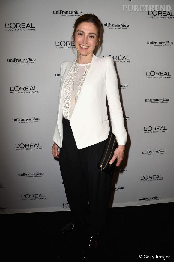 Julie Gayet à la soirée L'Oréal Paris x Unifrance au Festival de Cannes 2014.